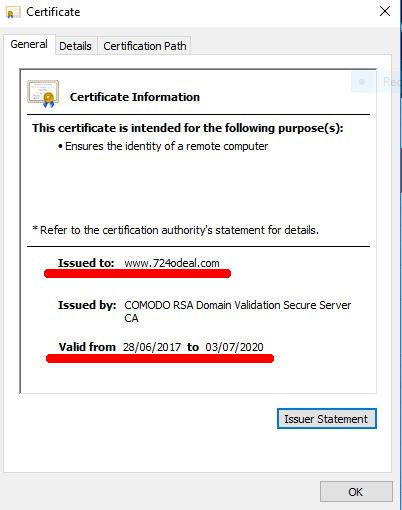 IE10 SSL Cert