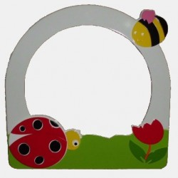 Mirror Frame with Butterfly-Heart figure