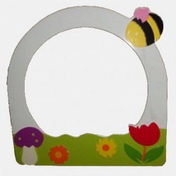 Mirror Frame with Bee Figure