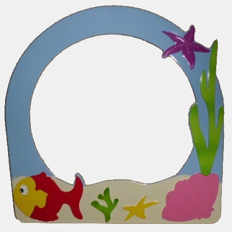 Mirror Frame with Flipper Figure