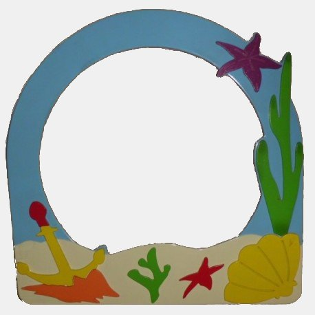 Mirror Frame with Red Fish Figure