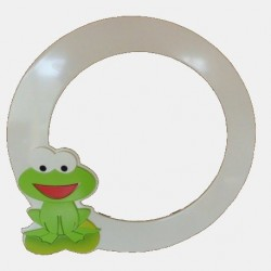 Mirror Frame with Frog Figure